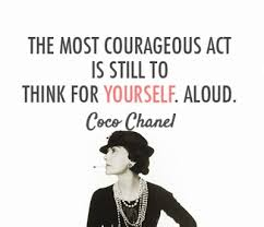 ....the great intellectual and perfume designer Coco Chanel, who also came up with this idea all by herself and was certainly not influenced by anybody else, like......