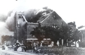 Rioters in Tulsa in 1921 do their thing...to a black Baptist church.