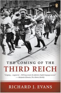 The cover of Evans' book: Nazi Brown shirts attacking political opponents in the street.